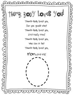 Mother's Day Thumb Body Loves You Poem This is a FREE page for Mother's Day. We are making Thumb print heart necklaces for Mother's Day and I wanted a little something to go with them. Mothers Day Poems, Mother Day Gifts, Love You Poems, Classroom Crafts, Classroom Ideas, Preschool Crafts, Preschool Ideas, Daycare Ideas, Preschool Games