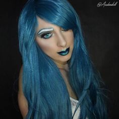 """TEAL DREAMS Here's a gorgeous #regram from @andeedoll in her #Hologram32"""" Collection in #Teal!! We adore this color on her! See her original post for all the makeup deetz! www.ROCKSTARWIGS.com . #RockStarWigs #gothiclolitawigs #glw #egl #eglcommunity #alternative #altgirl #tealhair #hair #hairenvy #hairgoals #makeupgoals #makeup #glittermakeup #wakeupandmakeup #motd #beauty #bluhair #wig #wintermakeup #cosplaywigs #cosplay #dragqueen #pinup #gothgirl Web Instagram User » Collecto"""