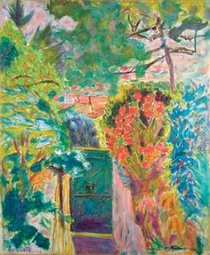 Pierre Bonnard (French, La porte de la villa du Bosquet au Cannet (Gate at the Villa Bosquet in Le Cannet) Oil on canvas, 1944 Gift of the L. and Margaret Walker Foundation, MMA Permanent Collection - Muskegon Art Museum Pierre Bonnard, Garden Painting, Painting & Drawing, Painting Lessons, Paul Gauguin, Impressionist Art, Post Impressionism Art, Henri Matisse, French Artists