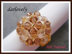 Swarovski Golden Flower Dome Ring PDF Tutorial