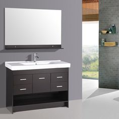 "Kokols 48"" Single Bathroom Vanity Set I With Mirror"