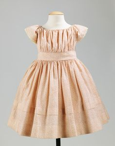 Cotton Dress c. 1860...I just love this little dress! Would love if I could figure out how to make one for Sky.