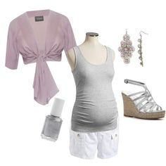 Lavender Maternity Summer Outfit, created by kathryndeane on Polyvore