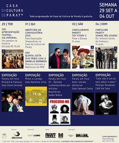 Confira o que acontece esta semana na Casa da Cultura!  #CasaDaCultura #CasaDaCulturaParaty #exposição #fotografia #música #cultura #turismo #arte #VisiteParaty #TurismoParaty #Paraty #PousadaDoCareca