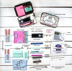 Women's Everyday Survival Kit Emergency Kit by coastalkitco
