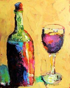 """Wine Walk 12060, (a donation)"" - Original Fine Art for Sale - © Nancy Standlee"