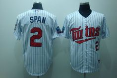 $22.00 MLB Jerseys Minnesota Twins Denard Span #2 White