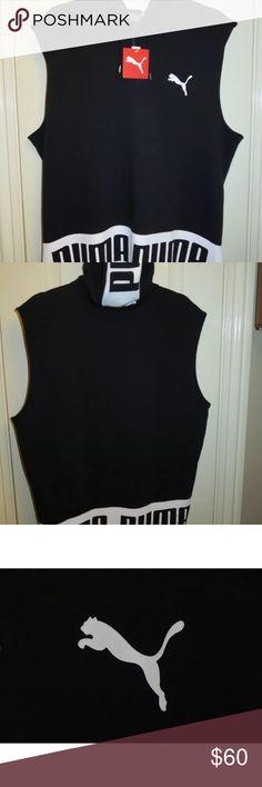 PUMA Rebel Hooded Sleeveless Sweatshirt NWT SZ L PUMA Rebel Hooded Sleeveless Sweatshirt NWT SOLD OUT EVERYWHERE! Perfect for the gym or casual wear! Puma Shirts Sweatshirts & Hoodies