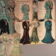 View Catalog Item - Theriault's Antique Doll Auctions Lot: 147. American Paper Dolls as Sunday Supplements