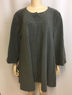 Gillian Grey Jacket 3X Plus Women's Cape Tunic Lined Career Top Layer Classic #GillianGrey #BasicJacket #Business