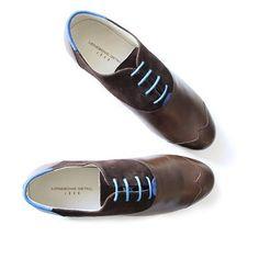 Lonesome Detail, Modèle John #derbies #derbie #brown #shoes #men