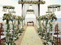 Decorations For Wedding Ceremony Floral White Vintage | visit www.lovelyweddingideas.com