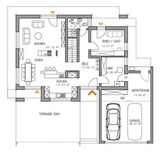 Informations About RKR Haus Grundriss Plan Haustyp Musterhaus Individuell Architecture Résidentielle, Commercial Architecture, The Plan, How To Plan, Decoration Design, Model Homes, House Floor Plans, Ground Floor, Building A House