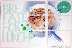 'BREAKFAST FOR LUNCH' SCRAPBOOK LAYOUT FOR SUNDAY SKETCH SERIES | THE PAPER CURATOR