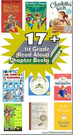 17 Great 1st Grade Chapter Books to Read Aloud - This is a fantastic 1st grade book list for homeschool, parents, and teachers alike.