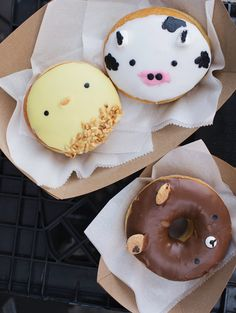 Animal donuts from Fantastic Donuts
