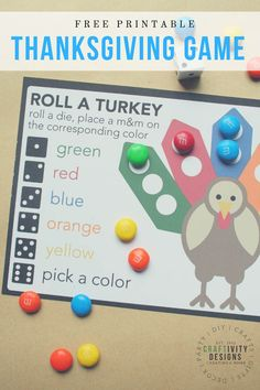 Roll a Turkey Game - Free Thanksgiving Game for Kids! Printable Roll a Turkey Game - Free Thanksgiving Game for Kids!,Printable Roll a Turkey Game - Free Thanksgiving Game for Kids! Thanksgiving Games For Kids, Holiday Games, Thanksgiving Parties, Holiday Activities, Thanksgiving Decorations, Holiday Crafts, Holiday Fun, Kindergarten Thanksgiving, Thanksgiving Food Crafts
