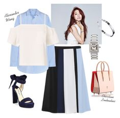 """""""Park Shin Hye's Fashion in Doctor, Korean Drama"""" by nantise on Polyvore featuring Shin Choi, T By Alexander Wang, Jimmy Choo, Christian Louboutin and Cartier"""