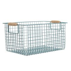 duck-egg Carolyn Donnelly Eclectic Metal Storage Basket