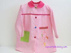 Bata escolar mod. School color rosa-blanco
