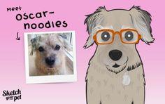 Meet Oscar Noodles #petportrait #art #illustration #petsketch #dogsketch #dogs #pencilsketch