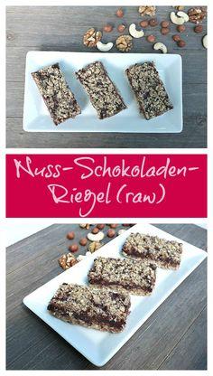 Gesund & lecker: Nuss-Schokoladen-Riegel (raw)
