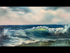 How To Paint A Seascape And Wave For Beginners Full Tutorial - Paintings By Justin Watercolor Paintings For Beginners, Acrylic Painting Techniques, Painting Tutorials, Watercolor Tips, Beginner Painting, Watercolor Landscape, Landscape Paintings, Beach Sunset Painting, Learn To Paint