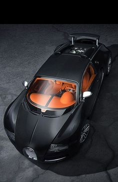 SUPERB CARS - Black Bugatti Veyron Vivere.
