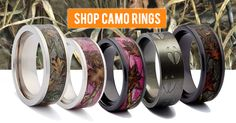 Camo is my life! My gal is in pink camo almost daily, while I am rocking my Mossy Oak. So I had to share these Camo Rings with yal! They are high quality, comfort fit, titanium bands made for both men and women. They make great promise rings, anniversary rings and engagement rings! Get your camo wedding ring from ONE CAMO today! www.1CAMO.com