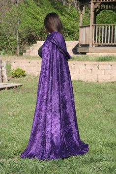 Cloak Cape Renaissance Elven Gothic Pirate Purple by SewFormal, $45.00