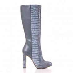 9509 Sarpente Bleu Leather Shoes, Heeled Boots, Heels, Fashion, Blue, Leather Dress Shoes, High Heel Boots, Heel, Moda