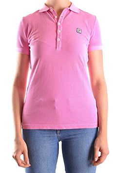 DSQUARED2 WOMENS MCBI107022O PINK COTTON POLO SHIRT ** Learn more by visiting the image link.