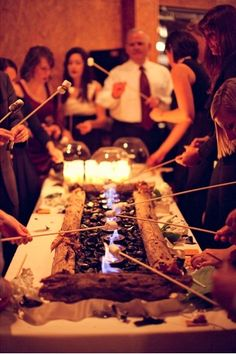 S'mores bar... @Tabitha Gibson Gibson Larkan you will need this at your wedding... s'more what? by glenda