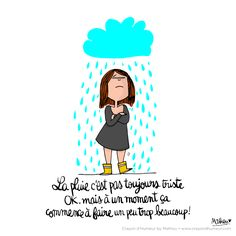 CDH: Hey la pluie j'te cause ! French Illustration, My Past Life, Paper Drawing, Bullet Journal Inspiration, Cool Cartoons, Mexico Travel, Emoticon, Caricature, Vignettes