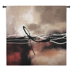 Fine Art Tapestries Symphony in Red and Khaki II Small Wall Tapestry