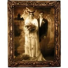 Scary portraits are a great way to spruce up a scary Halloween party. Just add a few of these scary portraits in place of your original photos...