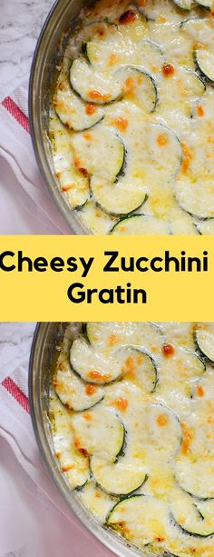 Cheesy Zucchini Gratin is not only low carb, but it is insanely delicious and loaded with garlic and the most heavenly cheesy cream sauce! Zucchini Side Dishes, Keto Side Dishes, Veggie Dishes, Side Dish Recipes, Vegetarian Recipes Easy, Low Carb Recipes, Diet Recipes, Cooking Recipes, Healthy Recipes