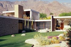 The Kaufmann House, a 1946 glass, steel and stone landmark built on the edge of Palm Springs by the architect Richard Neutra, has twice been at the vanguard of new movements in architecture — helping to shape postwar Modernism and later, as a result of a painstaking restoration in the mid-1990s, spurring a revived interest in mid-20th-century homes.   Photo credit: Tim Street-Porter From an article on The New York Times