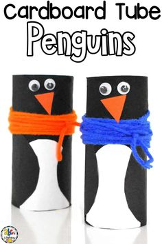 Creating crafts like this Cardboard Tube Penguin Craft is a fun way for kids to work on their fine motor skills and listening comprehension.