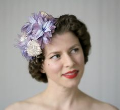 Spring Cupcake Fascinator by ChatterBlossom #spring #hair #fascinator #vintage #1950s #hairstyle