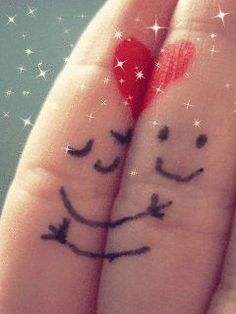Cute finger drawings #romance #love #couple