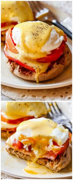 Make restaurant style Eggs Benedict at home! Learn how make homemade hollandaise sauce (in a blender!) and how to poach eggs.