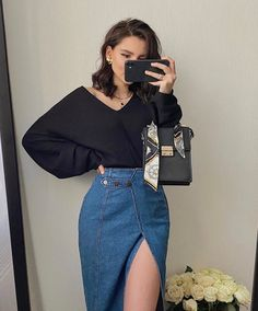 Cute Casual Outfits, Stylish Outfits, Summer Outfits, Mode Outfits, Skirt Outfits, Look Fashion, Korean Fashion, Vetement Fashion, Elegantes Outfit
