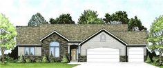 Vaulted ceilings in living, dining, kitchen, and master bed.  !0' ceiling in bed #3, plant shelves, jacuzzi tub, walk-in closet, bay window, fireplace, covered porch.  and an optional finish basement with rec room, two beds, and one full