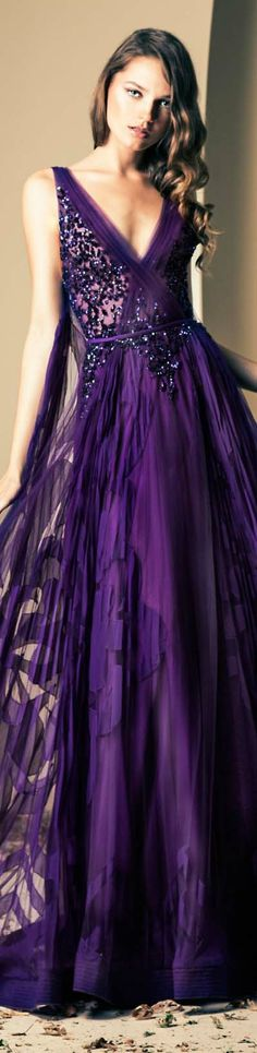 Ziad Nakad Couture | Fall/Winter 2014 #gown #dress #purple <3
