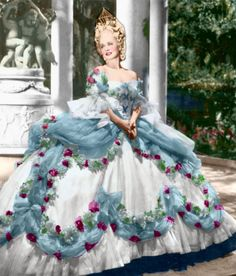 norma shearer in costume   Norma Shearer. Outstanding costume. Blue interpretation. I'm sure i ...