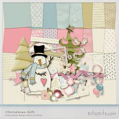 Limited time! Christmas Gift full kit freebie from Bits 2 Kits #digiscrap…
