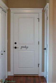 Goodbye fancy Front Door Vinyl Wall Art Graphic par thestickerhut