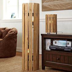 Weathered Wood Floor Lamp | PBteen (DIY idea)