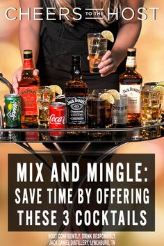 Don't spend too much of your time playing bartender for your party guests this holiday season. These three easy to make cocktail recipes will save you time and free you up to mix and mingle with all of your party guests so make sure to add these ingredients to your holiday shopping list!
